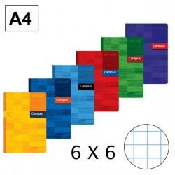 LIBRETA A4 CAMPUS 48H 6X6 90GR P/6
