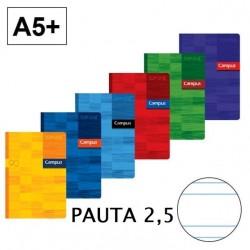 LIBRETA A5 CAMPUS 48H PAUTA 2,5 90GR P/5