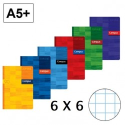 LIBRETA A5 CAMPUS 48H 6X6 90GR P/5