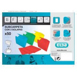 SUBCARPETA A4 3 SOLAPAS AMARILLO