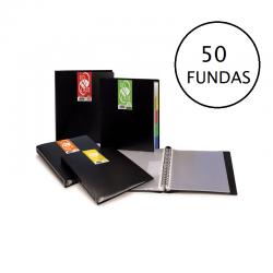 CARPETA 50 FUNDAS A4 IN&OUT OPACAS