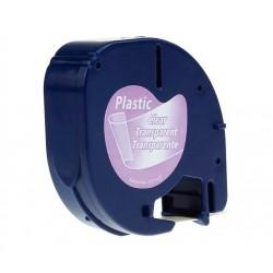 CINTA COMPATIBLE TAG PLASTICO TRANSPAR.12x4