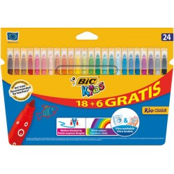 ROTULADOR BIC KIDS 18+6 COLORES