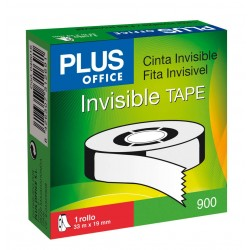 CINTA ADHESIVA PLUS INVISIBLE 33X19MM