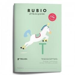CUADERNO RUBIO VACACIONES 3ºPRIM./5U