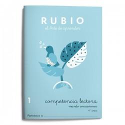 CUADERNO RUBIO COMPETENCIA LECTORA 1 MUNDO SENSACIONES /5U
