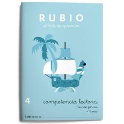 CUADERNO RUBIO COMPETENCIA LECTORA 5 MUNDO FANTASÍA ./5U