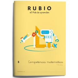 CUADERNO RUBIO COMPET.MATEMATICA 5/5U
