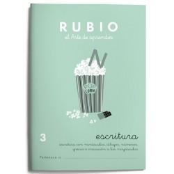 CUADERNO RUBIO ESCRITURA 3/10UD