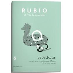 CUADERNO RUBIO ESCRITURA 6/10UD