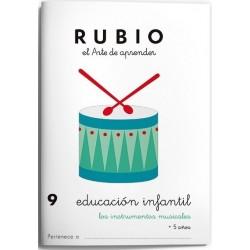 CUADERNO RUBIO EI 9 INSTRUMENTOS MUSICALES