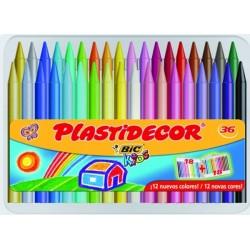 Ceras Plastidecor 36 colores
