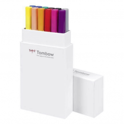 ROTULADOR TOMBOW DUAL BRUSH PASTEL 12 COLORES