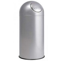Papelera con tapa blanca basculante 12 litros