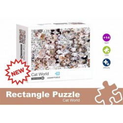PUZZLE 1000P CAT WORLD
