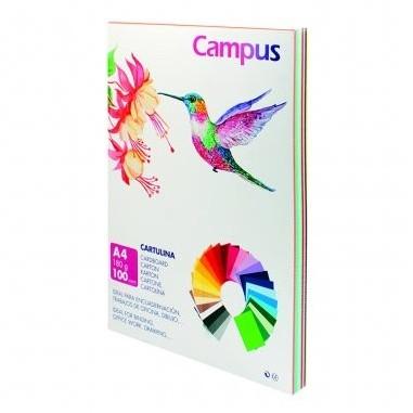 CARTULINA CAMPUS A4 180GR COLORES SURTIDO 100unid