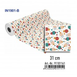 BOBINA PAPEL REGALO 31CMx85M IN1901