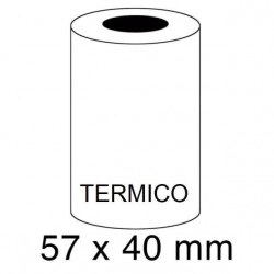 ROLLOS TERMICOS 57X40MM P/10