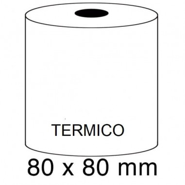 ROLLOS TERMICOS 80X80MM P/8