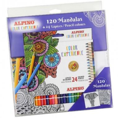 LAPICEROS 24 COLORES EXP.+120 MANDALA