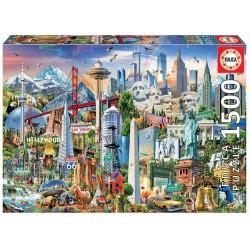 PUZZLE 1500 SÍMBOLOS DE NORTE-AMÉRICA