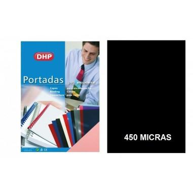 PORTADA A4 DHP 450 MICRAS NEGRO