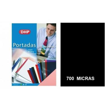 PORTADA A4 DHP 700 MICRAS NEGRO