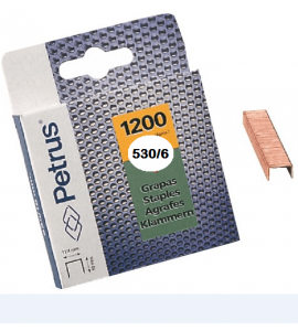 Grapas Petrus 530/6mm Blister 1200