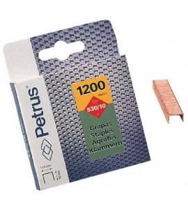 Grapas Petrus 530/10mm Blister 1200