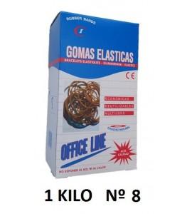 GOMAS ELÁSTICAS 1 KILO Nº8