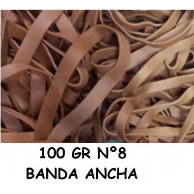 GOMAS ELÁSTICAS 100GR ANCHA Nº8