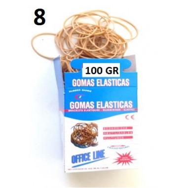 GOMAS ELÁSTICAS 100GR Nº8