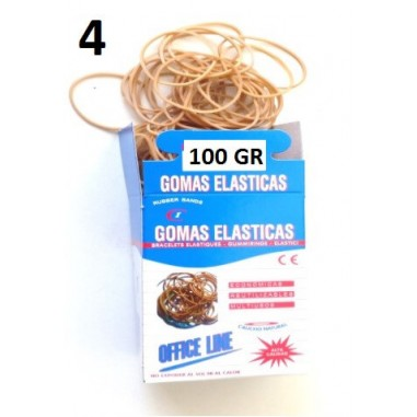 GOMAS ELÁSTICAS 100GR Nº4