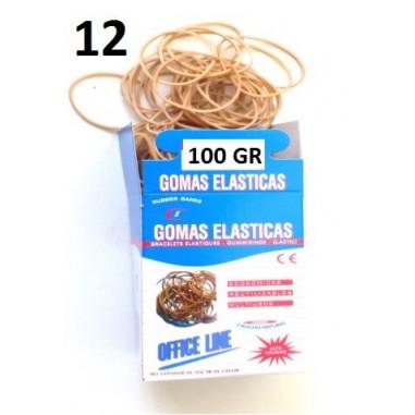 GOMAS ELÁSTICAS 100GR Nº12
