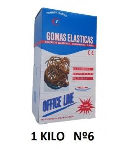 GOMAS ELÁSTICAS 1 KILO Nº6