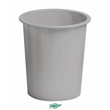 PAPELERA PLASTICO GRIS Faibo