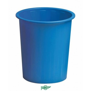 PAPELERA PLASTICO AZUL Faibo