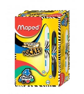 BOLIGRAFO MAPED TWIN TIP 4 POCKET