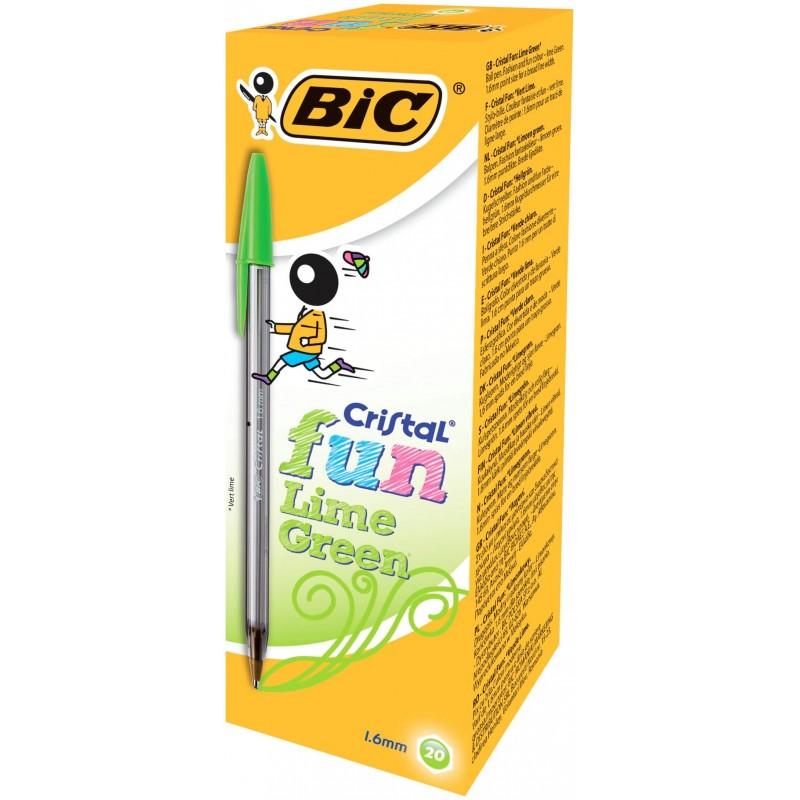 Bolígrafo BIC FUN LIMA C/20