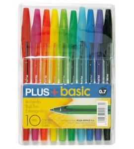 Bolígrafo PLUS +BASIC 10 COLORES