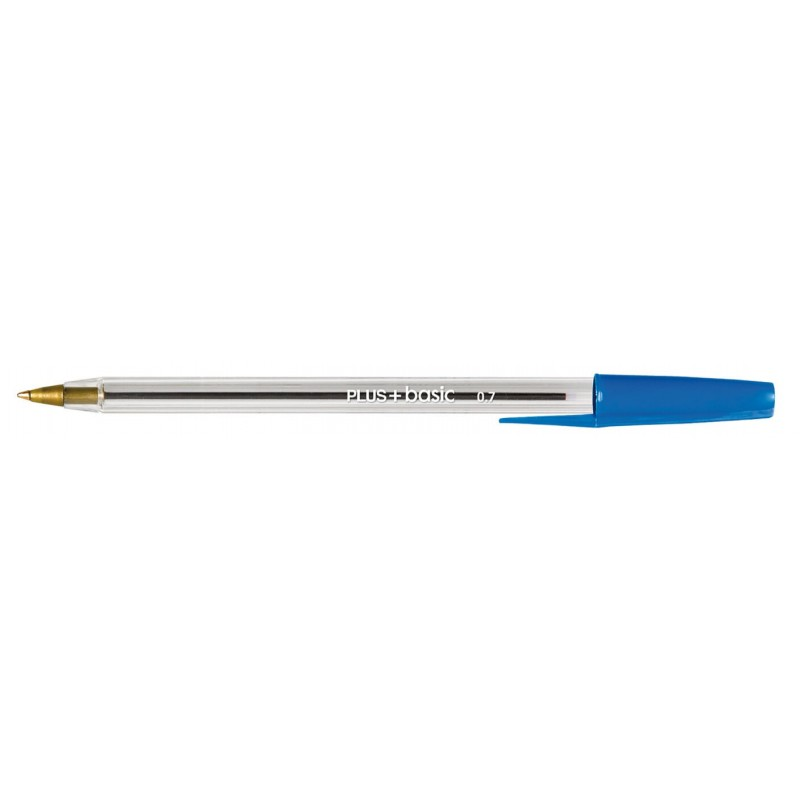Bolígrafo PLUS +BASIC AZUL C/50