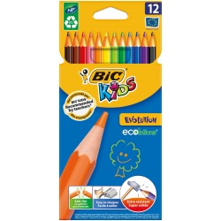LAPIZ BIC EVOLUTION KIDS 12 COLORES
