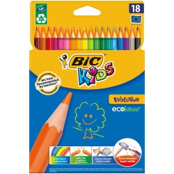 LAPIZ BIC EVOLUTION KIDS 18 COLORES