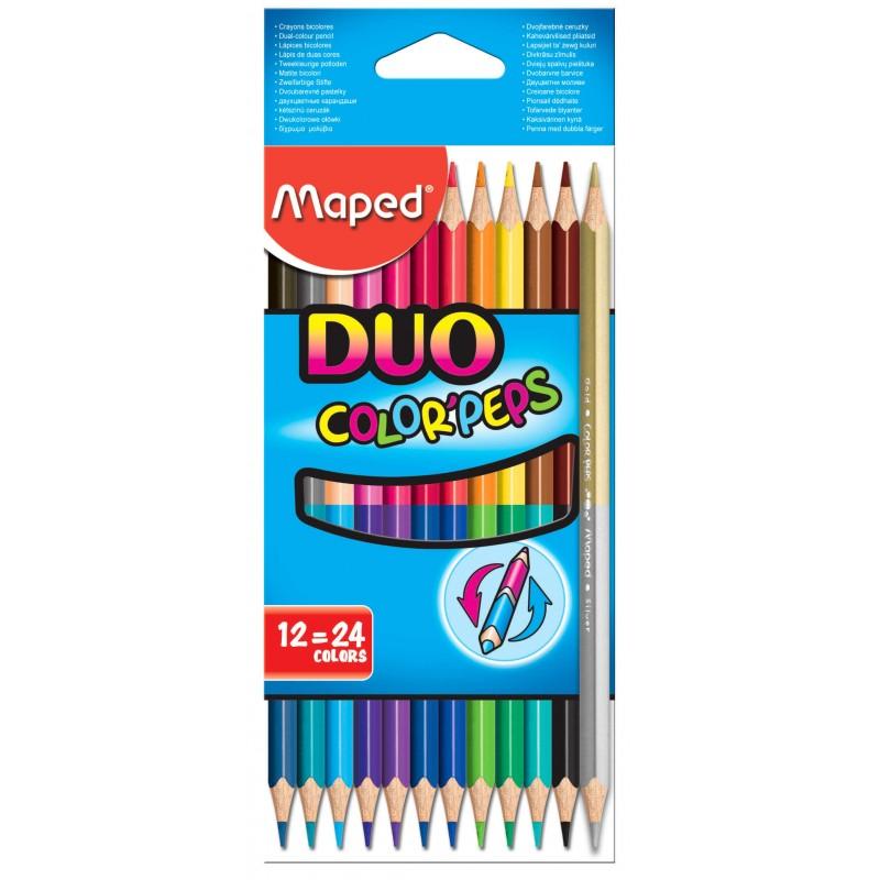 LAPIZ MAPED DUO Color Peps 12 COLORES