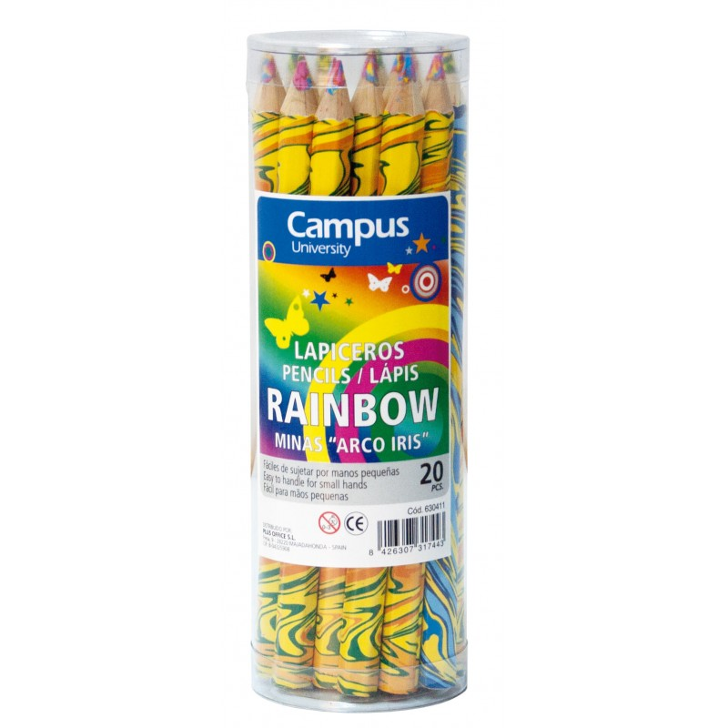 LAPIZ CAMPUS RAINBOW P/20