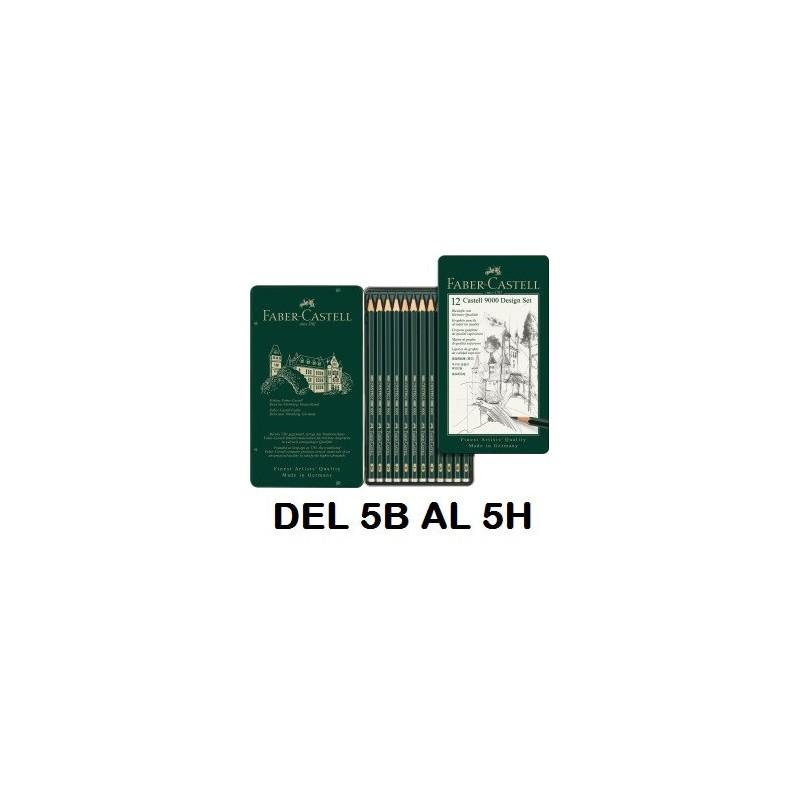 LAPIZ Faber Castell 9000 5B-5H C/12