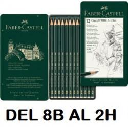 LAPIZ Faber Castell 9000 8B-2H C/12