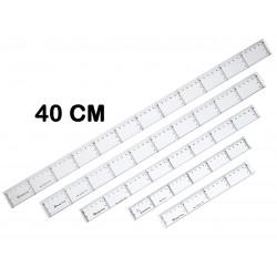 REGLA MAKRO PLASTICO 40 CM P/20