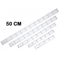 REGLA MAKRO PLASTICO 50 CM P/10
