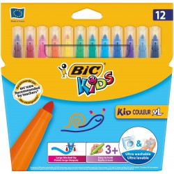 ROTULADOR BIC KIDS 12 COLORES XL